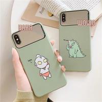 Green cartoon mirror iphone case