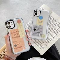 Label white black iphone case