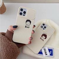 Boy girl camera protection iphone case