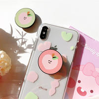 Jelly peach with grip iphone case