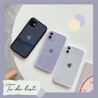 Lightpurple white black side iphone case