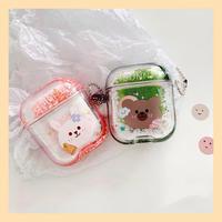 Bear rabbit quicksand airpods case
