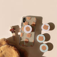 Cookie bear with grip iphone case