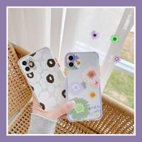 Big flower pattern  color side iphone case
