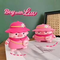 Cute hat pig airpods case