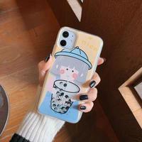 Milktea girl quicksand iphone case