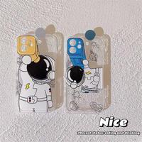 Astronaut yellow blue camera hole iphone case