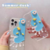 Summer duck clear iphone case