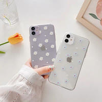 Flower dot clear iphone case