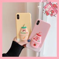 Banana strawberry milk  iphone case