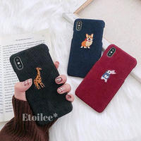 Animal embroidered iphone case