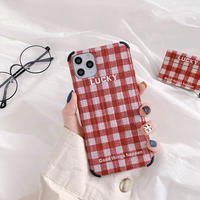 Lucky red check iphone case