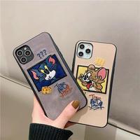 Mouse cat beige grey iphone case