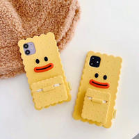 Yellow duck iphone+airpods case