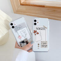 Modern face drawing clear iphone case