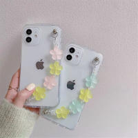 Candy color flower strap iphone case