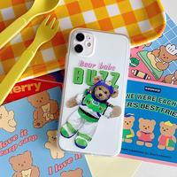 Bear buzz clear iphone case