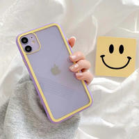 Purple yellow side iphone case