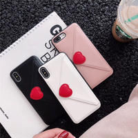 ⚠発送遅延⚠Heart wallet iphone case