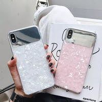 Aurora white pink iphone case