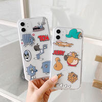 Mouse cat shape clear iphone case