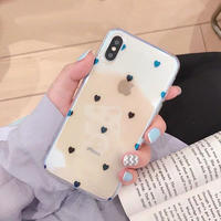 Small heart laser clear iphone case