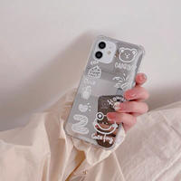 White drawing mirror iphone case
