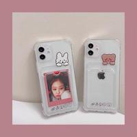 Bear rabbit pocket clear iphone case