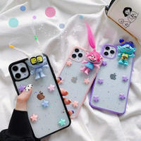 Troll star glitter iphone case