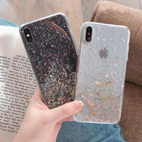 Gold foil glitter iphone case