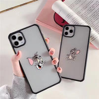 Mouse cat black side iphone case