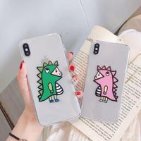 Dinosaur girl boy iphone case