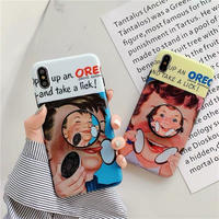 Oreo boy and girl with grip iphone case