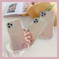 Clear hologram color side iphone case