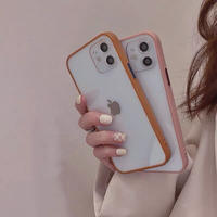 Pink brown side iphone case