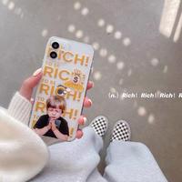 Rich boy clear iphone case