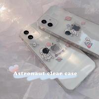 Astronaut pastel color clear iphone case
