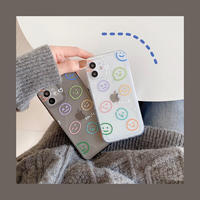 Color smile drawing clear iphone case