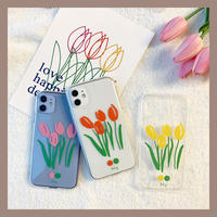 Tulip 3colors clear case