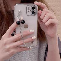 Black cherry strap iphone case