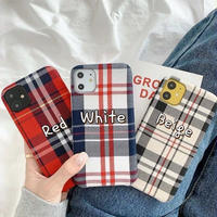 Check red white beige iphone case