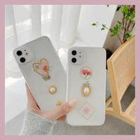 Jewel dried  flower clear iphone case