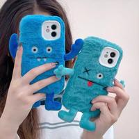 Blue monsters fur iphone case