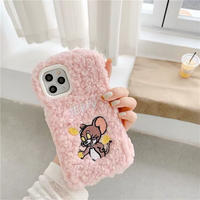Mouse money pink fur iphone case