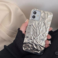 Silver ice iphone case