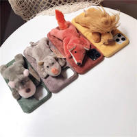 Animal doll fur iphone case