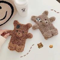 Mini bear fur iphone case