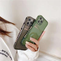 Moon phases green black iphone case