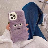 Purple monster fur iphone case