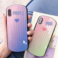 Pastel heart round iphone case